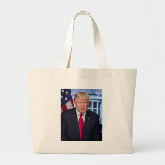 For President Donald Trump Fans Large Tote Bag