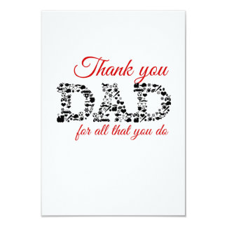 For Thank you Dad all that you do Card