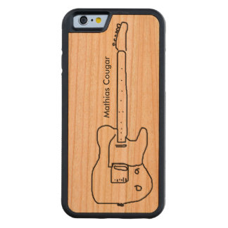 for the guitar-man, with name carved cherry iPhone 6 bumper case