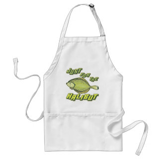 For The Halibut Fishing T-shirts and Gifts Adult Apron