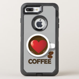 For the Love of Coffee Phone OtterBox Defender iPhone 8 Plus/7 Plus Case