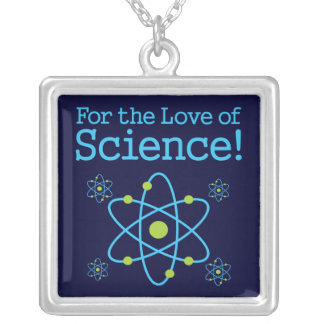 For The Love Of Science Atom Silver Plated Necklace
