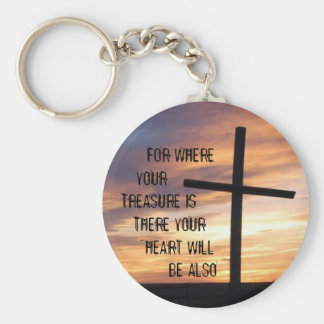 For where your treasure is, there your heart will key ring