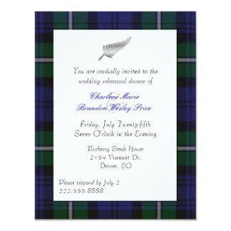 Forbes Plaid Wedding Rehearsal Dinner Invitation