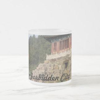 Forbidden City Frosted Glass Mug