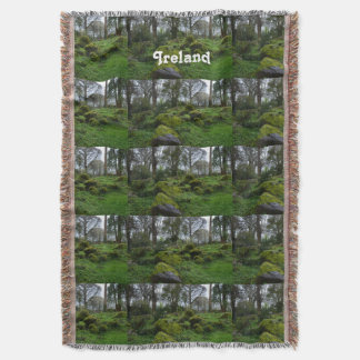 Forest at Blarney Castle Throw Blanket