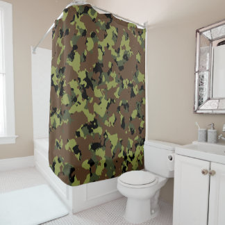 Forest Camouflage Shower Curtain