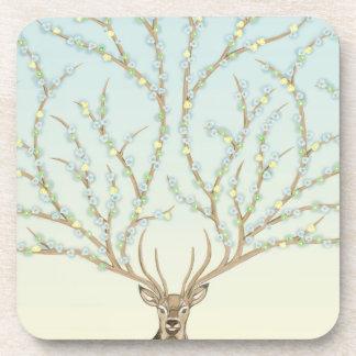 Forest god to deer, six elegant rural coasters  