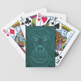Forest Green Orangutan Poker Playing Cards