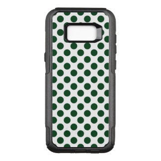 Forest Green Polka Dots OtterBox Commuter Samsung Galaxy S8+ Case