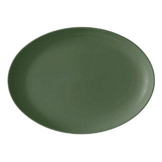 Forest Green Solid Colour Porcelain Serving Platter