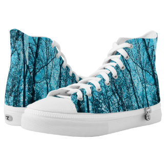 Forest In Azure High Tops