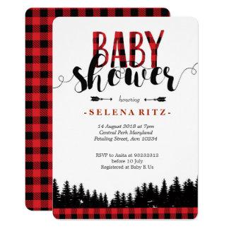 Forest Lumberjack Baby Shower Invitation