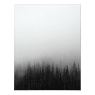 Forest Nature Landscape Scene Foggy Mystical 11 Cm X 14 Cm Invitation Card