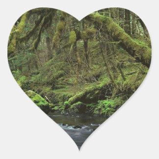 Forest Peaceful Alaska Heart Sticker