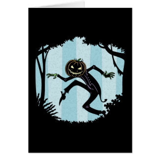 Forest Punkin Man Greeting Card