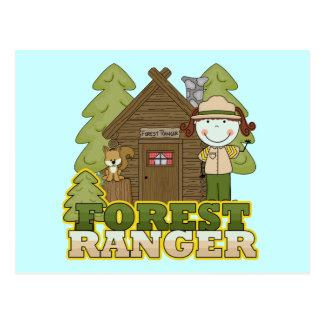 Forest Ranger - Brunette Girl Postcard