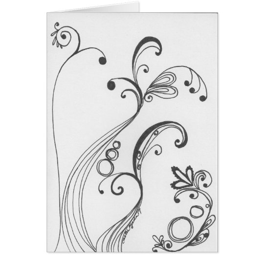 Forest Swirl Series 1 Card