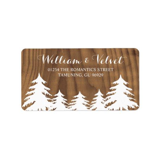 Forest Wedding Labels