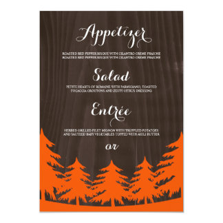 Forest Wedding Menu Cards
