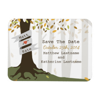 Forest / Woodland Fall Autumn Save The Date Magnet