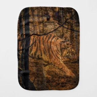 Forest Woodland wildlife Majestic Wild Tiger Burp Cloth