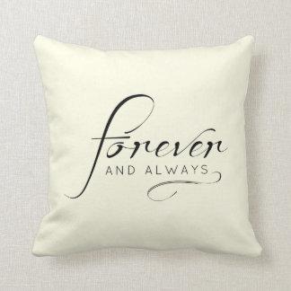 """Forever & Always"" | Wedding, Anniversary Throw Pillow"
