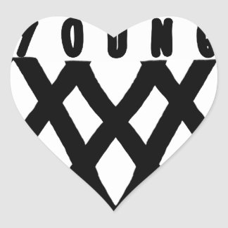 forever young heart sticker