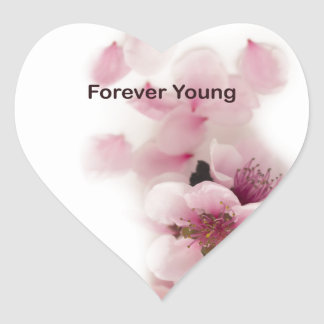 forever young tilte heart sticker