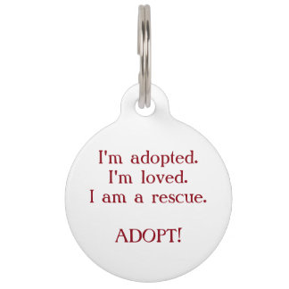 Forget Me Not Animal Rescue Custom Pet Tag
