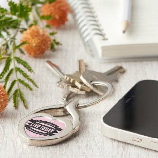Forget yesterday,live today,dream tomorrow Silver-Colored twisted heart key ring