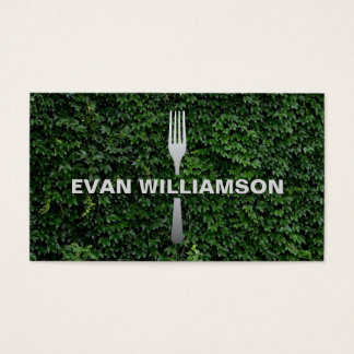 Fork and Garden Event Catering, Event Planner Business Card