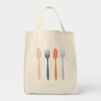 Fork and Spoon Tote Bag