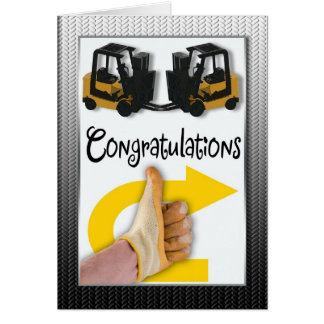 Forklift License Congratulations Greeting Card
