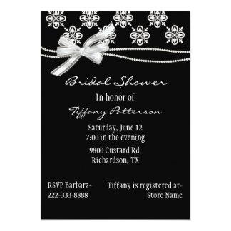 Formal Black and White Bridal Shower Invitation