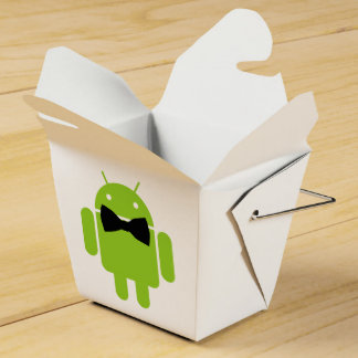 Formal Bow Tie Android Robot Icon Wedding Favour Box