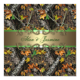 Formal Camo Wedding Invitations