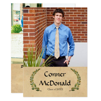 Formal Leaf - Graduation Announcement