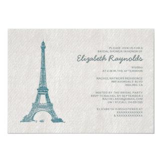 Formal Paris Bridal Shower Invitations