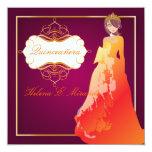 Formal Quinceañera/Quince años princess Personalized Announcements