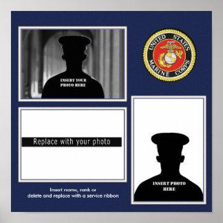Formal USMC Photo Display Poster
