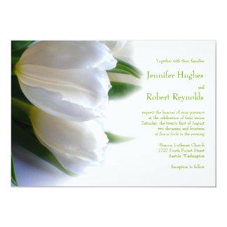 Formal White Wedding Invitation