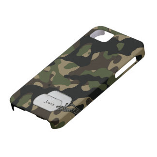Forrest Trees and Foliage Military Camouflage Barely There iPhone 5 Case