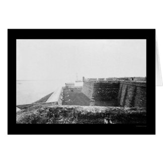 Fort Marion in St. Augustine, FL 1864 Card