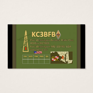 Fort Washington Amateur Radio Club Business Cards
