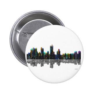Fort Worth Texas Skyline 6 Cm Round Badge