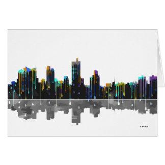 Fort Worth Texas Skyline Card