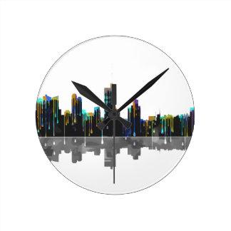 Fort Worth Texas Skyline Round Clock