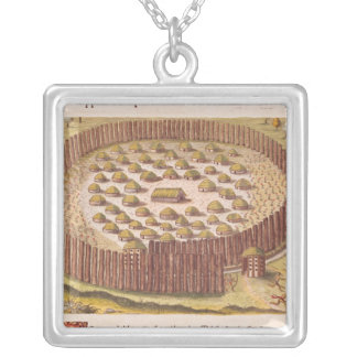 Fortified Indian Village, from 'Brevis 2 Silver Plated Necklace