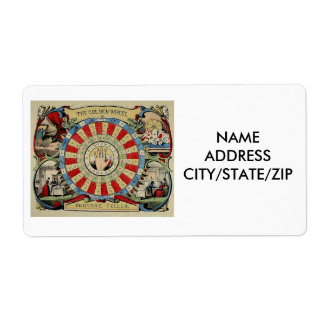 """""""FORTUNE-TELLER'S"""" BUSINESS CARDS SHIPPING LABEL"""
